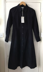 TOAST Navy Blue Cord Shirt Dress - Size 6 - Brand New With Tags