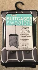 """The Original - Suitcase Sweater Cover Gray Black White Fits Luggage 20""""-25"""" Tall"""