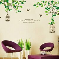 Tree Branches Birds Cage Wall Sticker Mural Decals Vinyl Art Living Room Decors