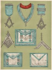 FREEMASONRY. Grand Lodge of Ireland. Private Lodge Clothing and Jewels 1882
