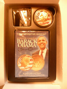 2009 Barack Obama Commemorative Card Set  with 24K Gold Plated Coin