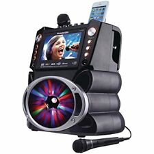 Karaoke Usa Gf846 Bluetooth[r] Karaoke Machine With Synchronized Leds