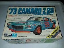 VINTAGE MPC 1973 CAMARO Z28 MODEL KIT WITH BOX AND INSTRUCTIONS VHTF