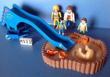 (M323) playmobil Grand tobogan bleu et bac à sable 3416 3552 3497 3195 4279