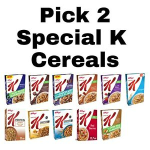 Pick 2 Special K Cereal Boxes