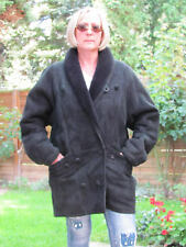 WOMENS XXXL Shearling Lambskin Sheepskin Lamb Coat Jacket Ladies D2890