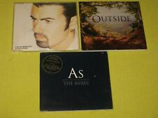 George Michael 3 CD Single Collection Jesus To A Child, Outside & AS The Mixes