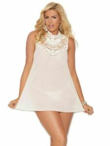 Embroidered High Neck Babydoll