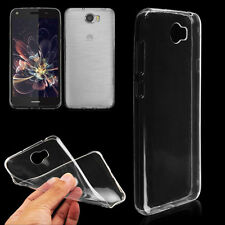 Clear Soft TPU Gel Jelly Case Cover For Huawei Y7 Free Screen Protector