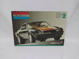 Vintage Monogram Camaro Z/28 3 in 1 Model Kit Unbuilt 2717