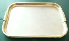 Woodmet Gold Colour Retro Vintage 1960s Anodised Metal Cocktail Serving Tray