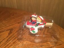 "Campbell's 3-D SOUP KIDS ""FLYING BY"" in a PLANE Christmas Ornament"