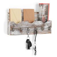 Wall Mount Mail Holder Organizer Mail Sorter Entryway Organizer 6 Key Hooks