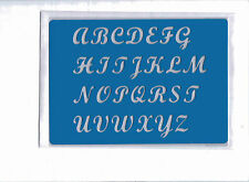 Plastic/PVC/Embossing/Stencil/Alphabet/Upper/Case/PP/Bendy/REDUCED