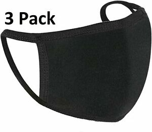 Face Masks 3 PACK Washable Reusable Adjustable Ladies/Mens/ Face Covering Mask