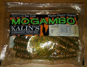 Kalin's Tournament Mogambo 6 in. Curltail Chartreuse/Copper S&P Rubber Worms NOS