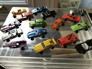 A Boxed Collection of Unusual Vintage Die Cast Cars (US?)