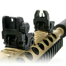 2PCS Tactical Folding Front Rear Flip Up Backup Sights Device Adjustment Hunting