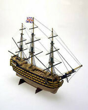 "Intricate, Mini Wooden Model Ship Kit by Mamoli: the ""HMS Victory"""