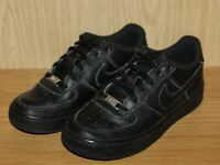 Nike Air Force 1 Black Leather Trainers, AF1, School Shoes, UK Size 4, EU 36.5