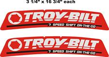 On-Sale 2- Troy-Bilt - 7 Speed Garden Tractor Hood Vinyl Decals -Stickers