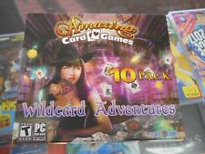 PC Game ~ AMAZING Card Games ~ 10 Pack ~ WILDCARD ADVENTURES
