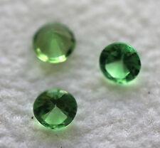 0,36 ct 3 Superbes Grenats Tsavorite 3 mm