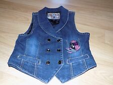 Girl's Size XL Baby Phat Blue Jean Denim Vest Jacket Sleeveless EUC
