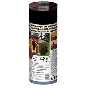 Gartenhausbedachung Selbstklebend 2,5 qm Rot Grau Schwarz Bitumenbahn Dachpappe