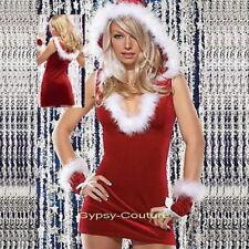 Sexy miss santa claus little helper Christmas fancy party Costume out fits 4 pcs