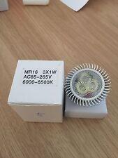 10 X MR16 12V 3W Fría Blanco LED Bombillas De Luz Lámpara Proyector Reino Unido Envío