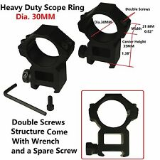 Heavy Duty 30Mm Scope Ring High Profile in Pair Weaver Picatinny Mount