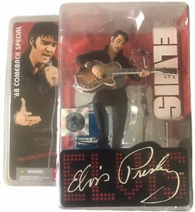 Elvis Presley 1968 Comeback Special Figure w Stage,Mic,Stand,Chair NEW 2004 '68