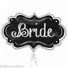 """34"""" Wedding BRIDE Blackboard Chalkboard Marquee Foil Supershape Balloon"""