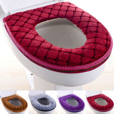 Bathroom Toilet Seat Closestool Washable Soft Warmer Mat Cover Pad Toilet Seats