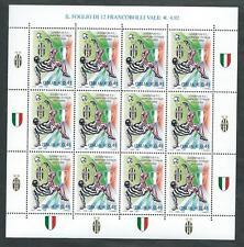 2002 ITALIA MINIFOGLIO JUVENTUS CAMPIONE D'ITALIA CALCIO MNH ** - ED