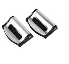 SILVER FORD SEAT ADJUSTABLE SAFETY BELT STOPPER CLIP CAR TRAVEL 2PCS