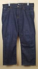 7 FOR ALL MANKIND Slimmy Men's Jeans 36X25 Blue Tapered