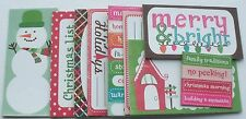 Journal Kit - HOLLY JOLLY - Christmas - Chipboard Phrase Picture Cards