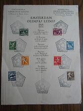 Summer Olympics Amsterdam Olympische Sommerspiele Jeux olympiques d'été de 1928