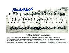 1949 KANSAS CITY MONARCHS  8X10 TEAM PHOTO NEGRO LEAGUE  O'NEIL FAC'S AUTO