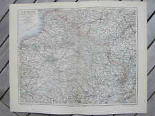 Antique map landkaart north east France Frankrijk 1907