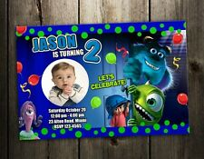 Monsters Inc university BIRTHDAY PARTY INVITATION CARD INVITE 1ST first custom 2