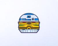 Enamel Pins Star Wars R2D2 C-3PO Burger Fan Art
