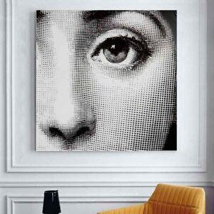 Fornasetti Lina Cavalieri Lady Face Decorative Luxury Wall Art Canvas Poster