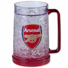 OFFICIAL ARSENAL FC FREEZER TANKARD DRINKING MUG MEN'S DOUBLE WALLED
