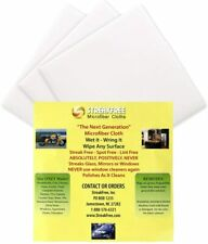 "NEW - StreakFree ""The Next Generation"" Microfiber Cloths - 6 pack -FREE SHIPPING"