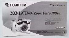 Fujifilm Zoom Date 140/140Ez 35mm camera instruction manual 2000