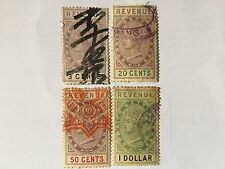 1888 Malaysia Malaya Straits Settlements Revenue Stamps CV Rm 140