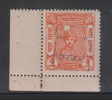 INDIA RAJASTHAN ON BUNDI 1948-49, 4An. SG5C BLUE OVERPRINT MNH STAMP RARE.